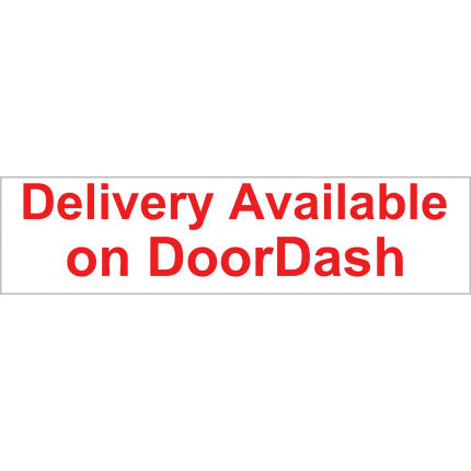 Delivery w/ DoorDash Available Banner 2x8