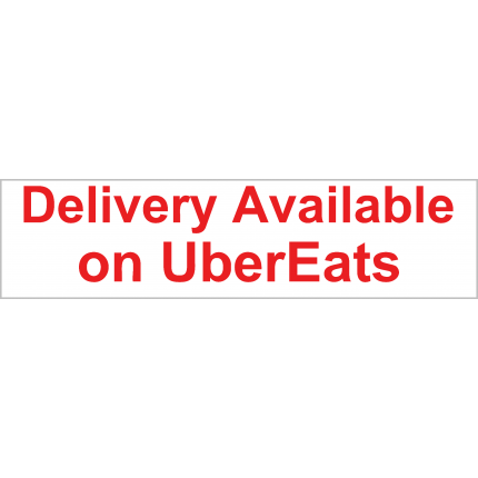 Delivery w/ UberEats Available Banner 2x8